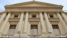 Fachada de la antigua Biblioteca Nacional