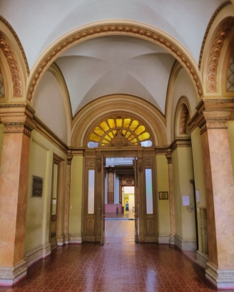 Ingreso a la antigua Biblioteca Nacional