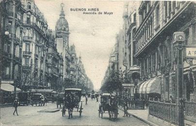 Cúpula del Hotel visto desde la Avenida de Mayo