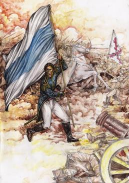 Bandera de Macha, llevada por el Gral. Belgrano