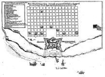 Plano de la Ciudad de Buenos Aires y ubicación del Fuerte