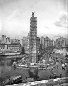 Obelisco en Plena Construcción